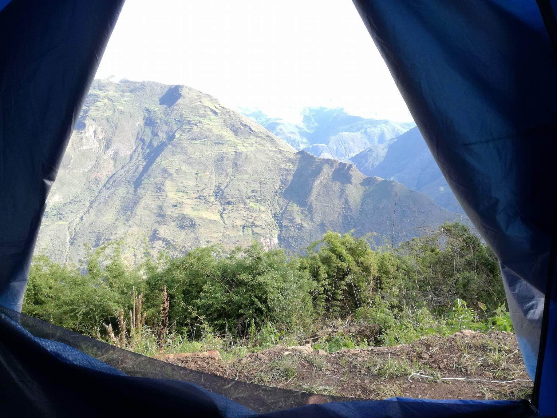 Choquequirao tent resting place