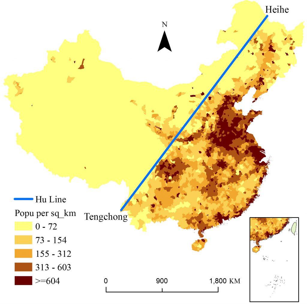 china population distribution